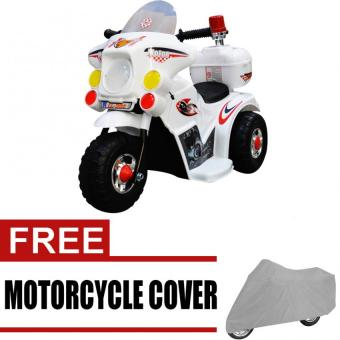 Harga Wawawei LL999 Rechargeable Motor Bike (White) with free Wawawei Medium Motorcycle Cover (Gray)