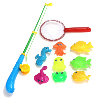 10pcs Magnetic Fishing Game Toy 1 Rod 8 Fish 1 Net Kids Children Bath Time Fun Price Philippines