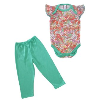 Harga Bug & Kelly Green Palm Leaves Onesie Set