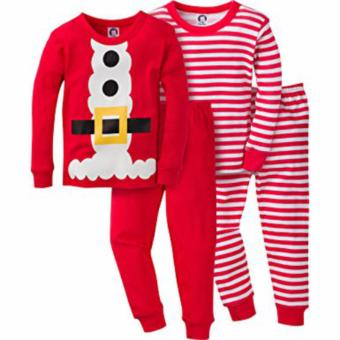 Harga Gerber Unisex Baby and Toddler 4 Piece Holiday Cotton Pajama Set 24M
