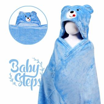 Baby Steps Bear Hooded Towel Blanket (Blue) Price Philippines