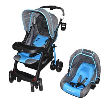 BABY 1ST S-B010KM7 (STROLLER WITH CAR SEAT CARRIER), Blue Price Philippines
