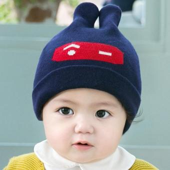 PATHFINDER Baby Bonnet Cap Sleeve Cotton Rabbit Ears Baby Hat 3975(Blue) - intl Price Philippines