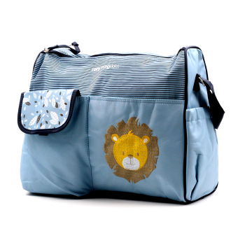 BABY STEPS Baby Lion Baby Diaper Bag (Blue) Price Philippines