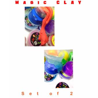 Harga 2in1 MAGIC CLAY Transparent goo style and Magic Clay Kinetic Style set of 2 (color may vary)