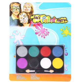 8 Color Environmental Protection Non-toxic Water Makeup Face Halloween Paint Color Devil Fans Price Philippines