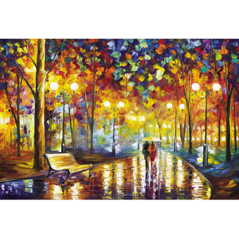 Harga Mimosifolia Puzzle Toys Children Adult decompression Games 1000 Piece Jigsaw Home Decoration Painting Walking in the Rainy Night
