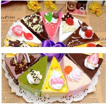 3Pcs Simulated Food Triangle Cake Bread Model Wedding Window Display Shooting Props Kids Area Angle Toys Simulated Cake - intl Price Philippines