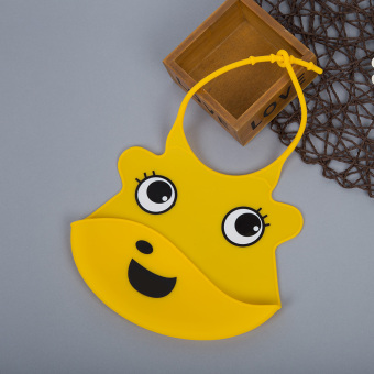 Durable Babies Silicone Bib Soft Cartoon Shape (Yellow) - Intl Price Philippines