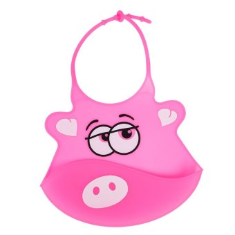 Durable Cartoon Shape Babies Soft Silicone Bib - intl Price Philippines