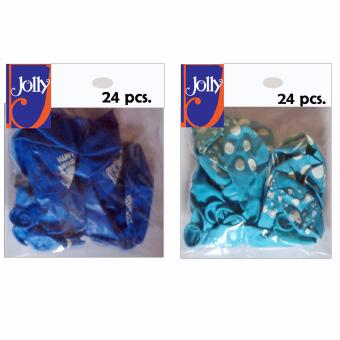 Happy Birthday Balloons 24`s Blue & 24`s Light Blue Price Philippines