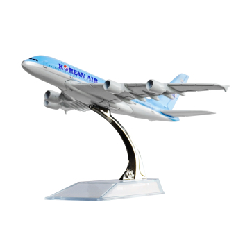 Korean Airbus 380 16cm Metal Airplane Models Child Birthday Gift Plane Models Home Decoration Price Philippines