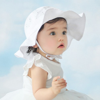 The Newest Summer Baby Hat Newborn Baby Hat Kids Flowerpot hat for boys and girls-white Price Philippines