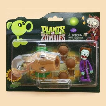 PVC Plants VS Zombies Peashooter Figure Model for Children Home Decoration - intl Price Philippines