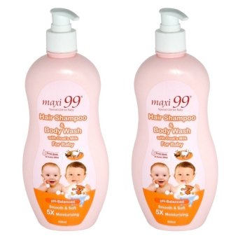 Harga Maxi 99 Hair Shampoo & Body Wash w/ Goat's Milk for Baby 2 x 500ml