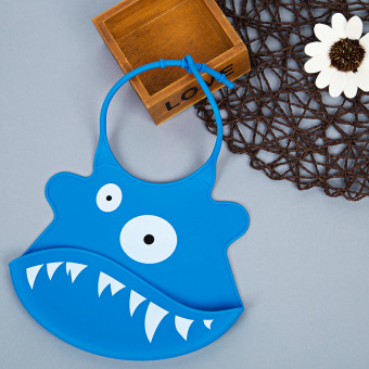 Durable Babies Silicone Bib Soft Cartoon Shape (Deep Blue) - Intl Price Philippines