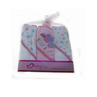 Baby Kiss Hooded Towels - Pack of 3 (Cupcakes) Price Philippines