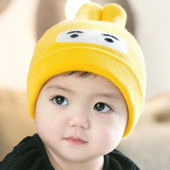 PATHFINDER Baby Bonnet Cap Sleeve Cotton Rabbit Ears Baby Hat 3975(Yellow) - intl Price Philippines