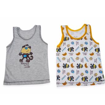 Gray / White Toddler Boy 2n1 Sando 968571 Price Philippines