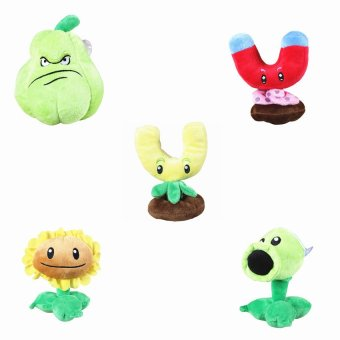Lucky man 5PC Plants vs Zombies 2 PVZ Figures Baby Plush Staff Toy Doll Kids Cute 5 Roles - Intl Price Philippines