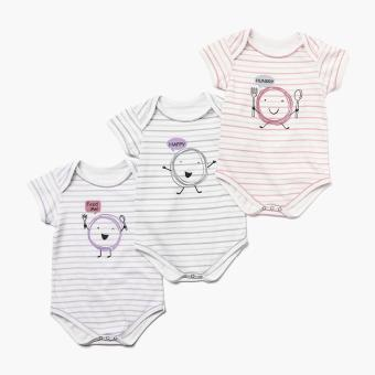 Hush Hush Girls 3-piece Hungry Onesie Set (Multicolored) Price Philippines