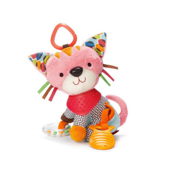 Harga Baby Bandana Buddies Multi-Sensory Soft Plush Toy,Rattle Toy, Cat - intl