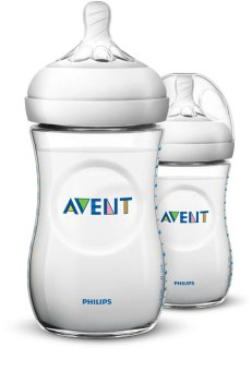 Harga Avent Natural Feeding Bottle 9oz Twin Pack