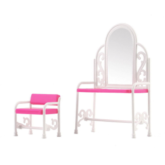Dressing Table & Chair Accessories Set For Barbies Dolls Bedroom Furniture Price Philippines