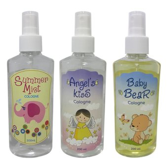 Angel's Kiss with Baby Bear and Summer Mist Baby Cologne 200ml Bundle (Multicolor) Price Philippines
