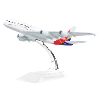 KOREA Asiana Airlines A380 16cm Alloy Metal Airplane Models Child Birthday Gift Plane Models Toy Price Philippines