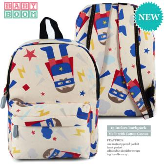 BABY BOOM Canvas Bag Kids Backpack (Superhero) Price Philippines
