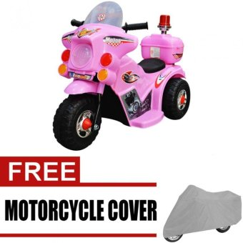 Harga Wawawei LL999 Rechargeable Motor Bike (Pink) with free Wawawei Medium Motorcycle Cover (Gray)