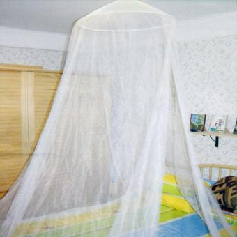 Luxury Home Double Ceiling Bed Dome Mosquito Net White - intl Price Philippines