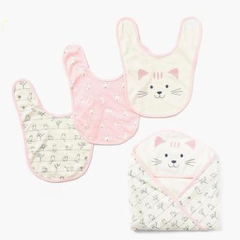 Hush Hush Girls Kitty Bib And Blanket Set (Free Size) Price Philippines