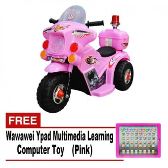 Harga Wawawei LL999 Rechargeable Motor Bike (Pink) with FREE Wawawei Ypad Multimedia Learning Computer Toy(Pink)