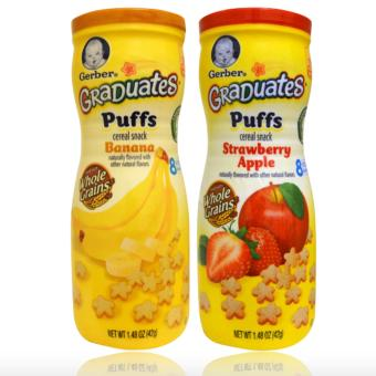 Harga Gerber Graduates Puffs Cereal Snack Pack of 2 (Strawberry Apple & Banana)