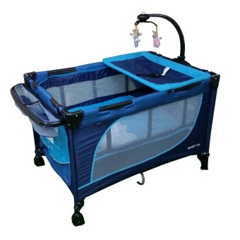 Baby 1st Crib Playpen with Rocking System (Blue) Price Philippines