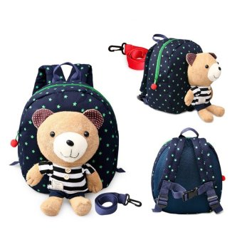 Harga 1-3 years old Baby Keeper Toddler Walking Safety Harnesses Bear Backpack Strap Bag(Blue)