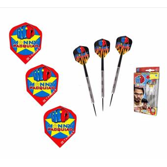Harga Target Manny Pacquiao Darts 21 g (Pack of 3) with Target Darts Flights MP (Red) (set 1)