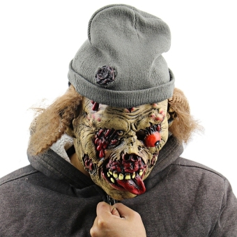 Creepy Funny Undead Zombie Old Man Latex Mask With Hat Formasquerade Halloween Costume Party Bar - intl Price Philippines