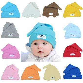LALANG Cute Newborn Sleep Hat Infant Cap Baby Cotton Cap Beanie Hat Coffee Price Philippines