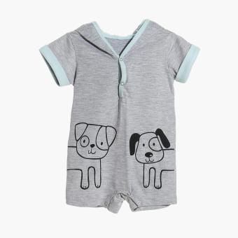 Hush Hush Boys Cat and Dog Hooded Romper (Gray) Price Philippines