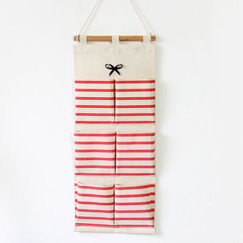 Harga Mimosifolia Over the Door storage bathroom Wall Door organizer system baby closets storage hanging pockets Red stripes 6 pockets