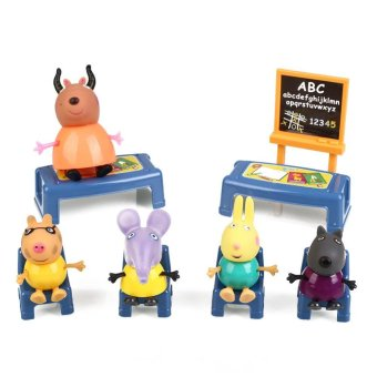 Harga Peppa Pig Classroom Desks Chairs Random Color Play Set Xmas Gifts Toys Gift - intl
