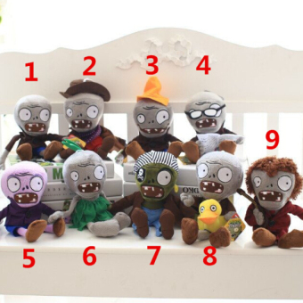 9pcs/lot 30cm Plants vs Zombie Figure Plush Toys Staffed Plush Doll Creative Gift for Kids Christmas Gift - intl Price Philippines