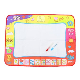 Harga 31.4' Water Drawing Toy Painting Writing Mat Board 2 Magic Pens Doodle Mat