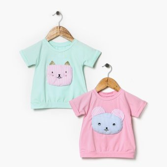 Harga jusTees Baby Girls 2-Piece Fab Kitty Tee Set (12M)