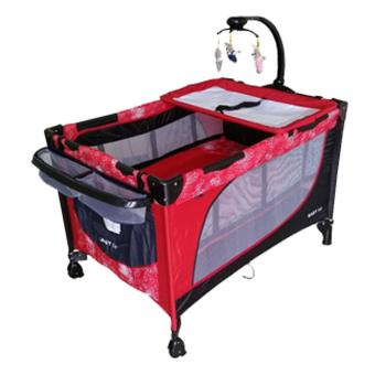 Baby 1st Crib Playpen P-510DCR, (RED) Price Philippines