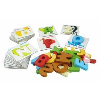 Baby Kid Wooden Animal ABCs Alphabet Flash Cards Price Philippines