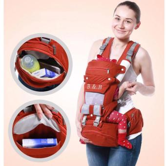 Multifunctional Breathable Cotton Newborn Baby Carrier with Hip Seat(Red) Price Philippines